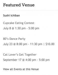 Featured Venue Widget in Events Calendar Pro