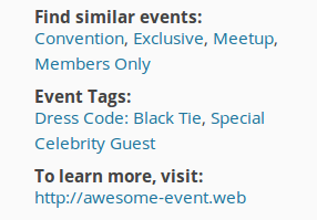 Screenshot showing customized meta labels