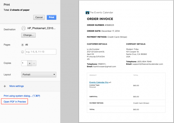kb - invoices chrome