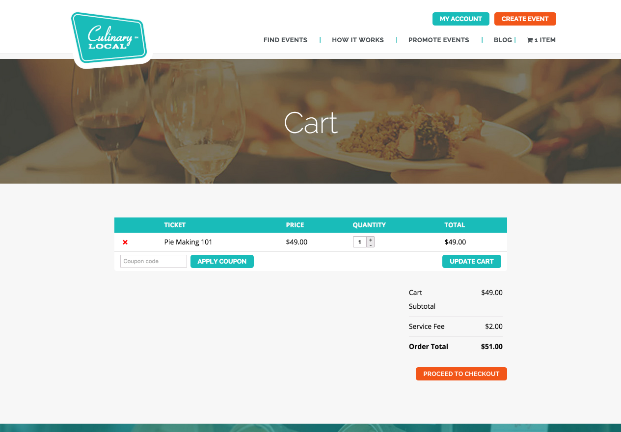 showcase - culinary local - cart page