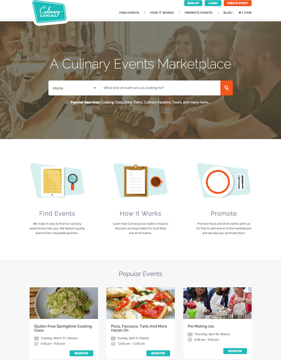 showcase - culinary local - home page