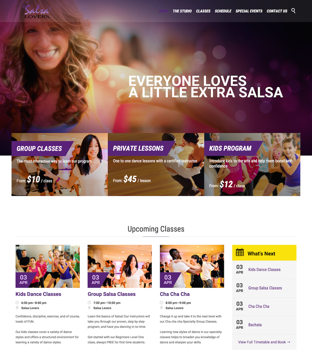 showcase - salsa lovers - home page