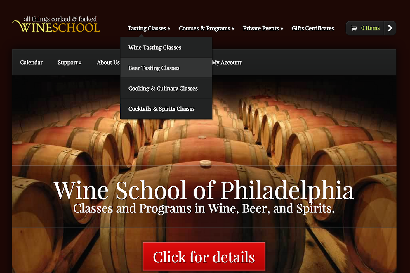 showcase - wine school - home page 1