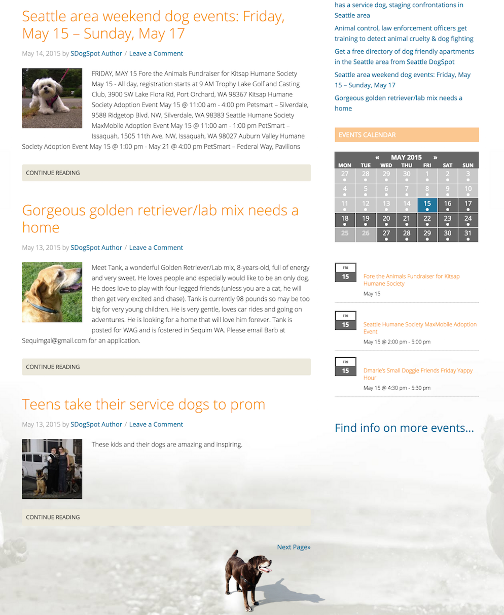 showcase - dogspot - home page 2