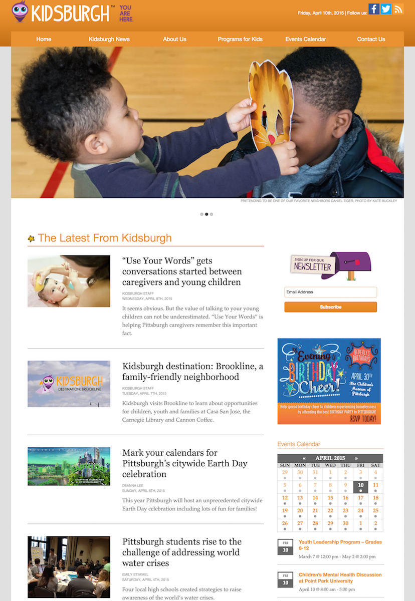 showcase - kidsburgh - home page