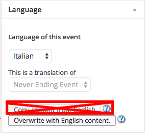 "Never use the first ""Copy content"" link. Always use the ""Overwrite"" content button"