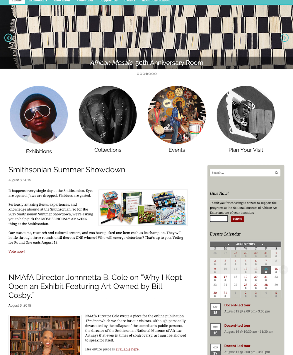 showcase - NMAA - home page widget