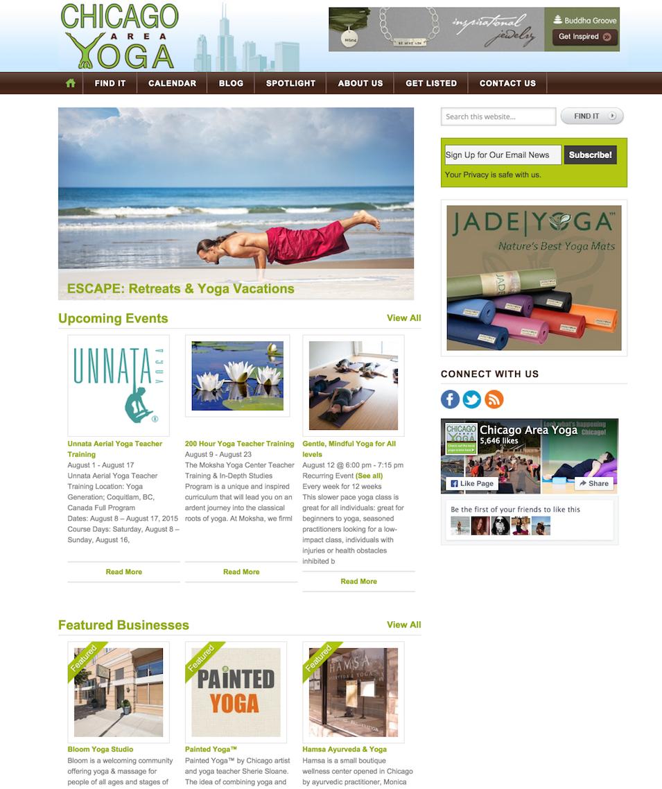 showcase - chicago yoga - homepage