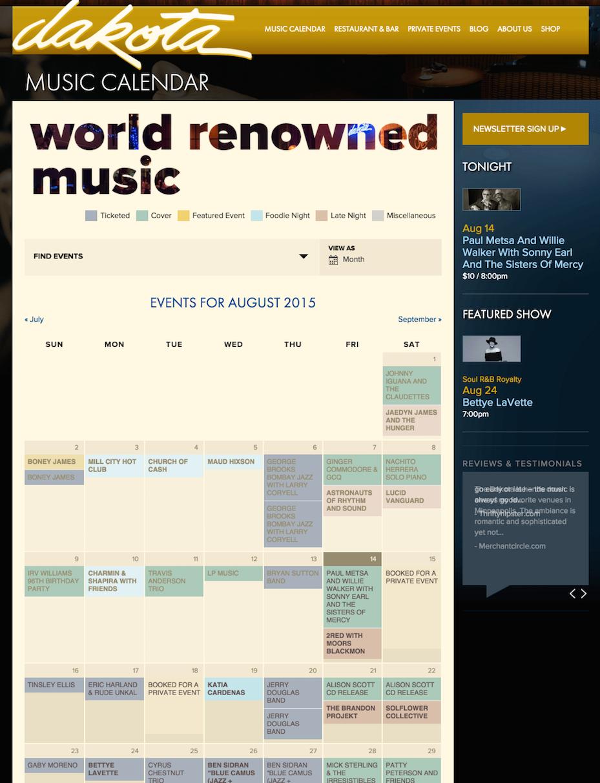 showcase - dakota - month view