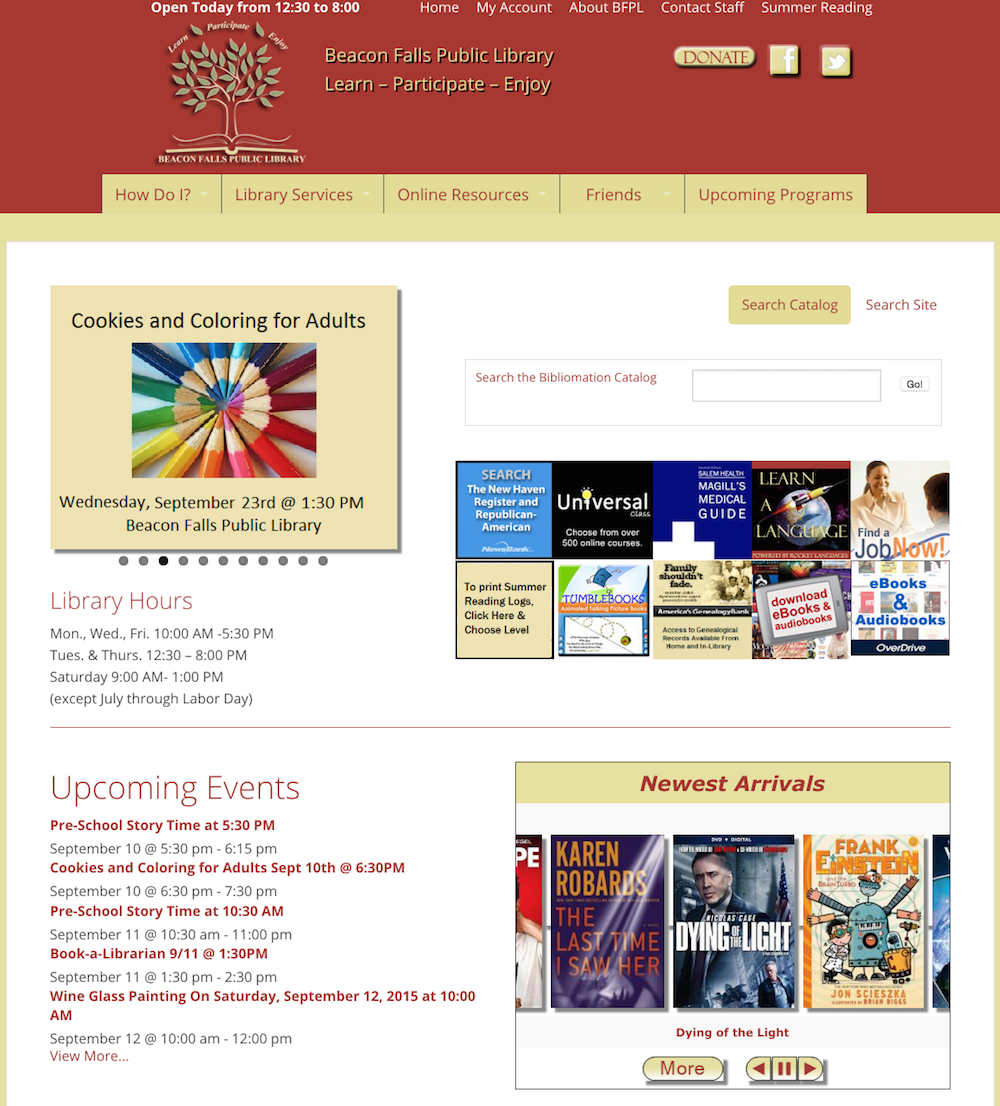showcase - Beacon library - homepage