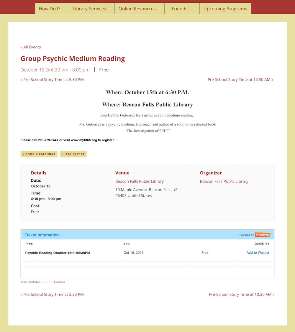 showcase - Beacon library - single event 2