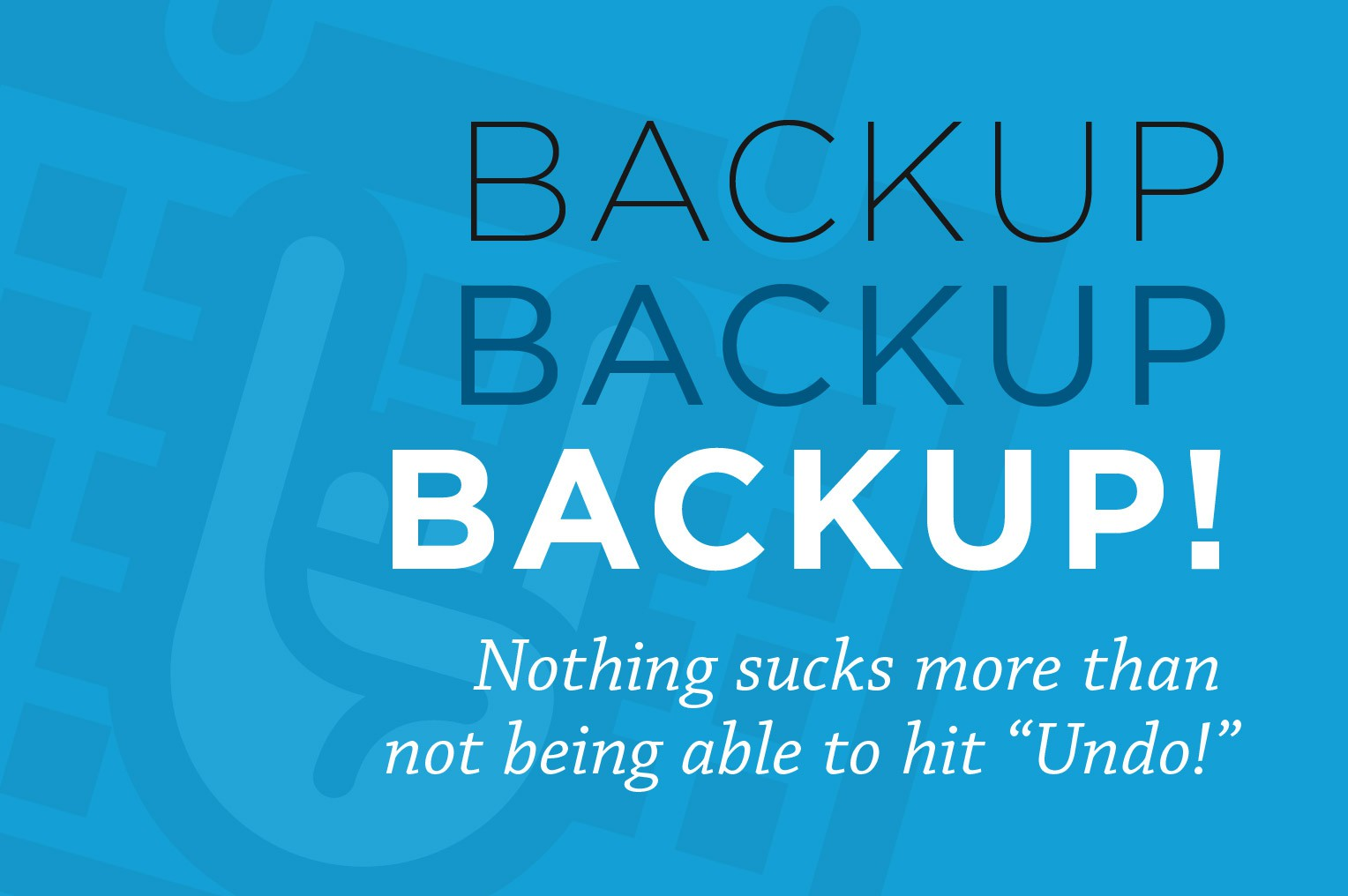 Don't get stuck - create a wordpress backup database
