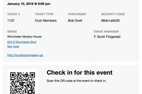 Event Tickets Plus - QR Code Ticket