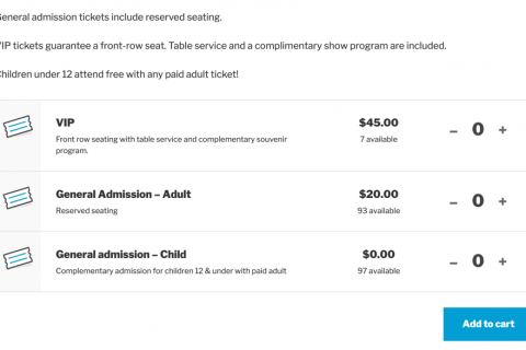 Make it easy for attendees to buy tickets with Event Tickets Plus. On the front end, attendees can purchase tickets directly from the event page. (Created with Block Editor)
