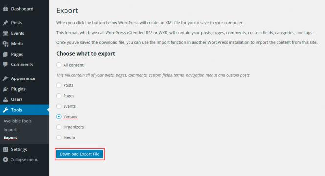 export-tool