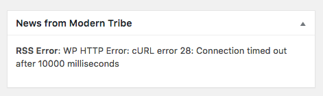 RSS Error: WP HTTP Error: cURL error 28: Connection timed out after