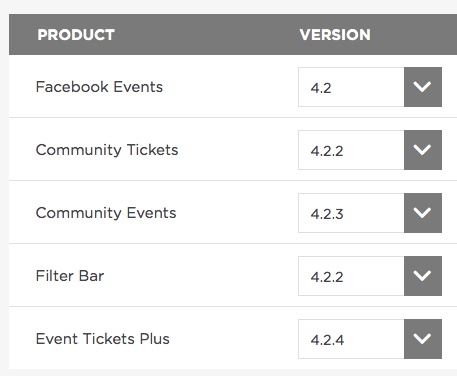 Download old version | The Events Calendar