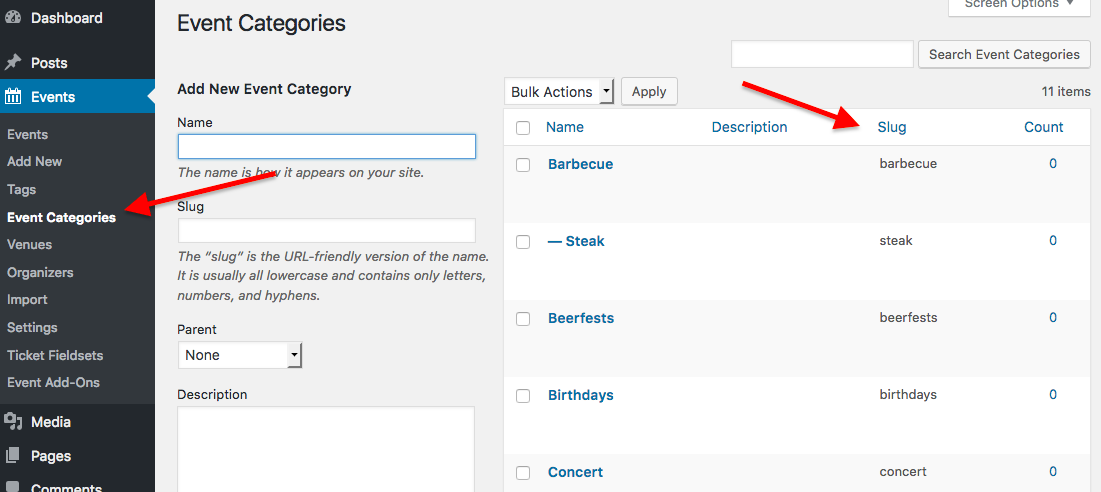 Embedding Calendar Views with the [tribe_events] Shortcode