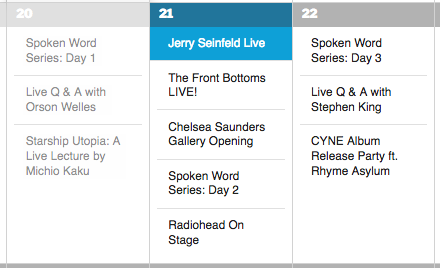 "The ""Jerry Seinfeld Live"" Event is Featured"
