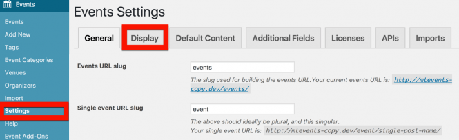 How to Change The Events Calendar Address