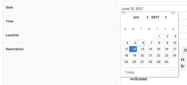 The Events Calendar datepicker CSS styling overwriting