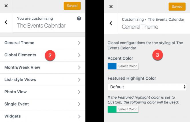 customizing The Events Calendar