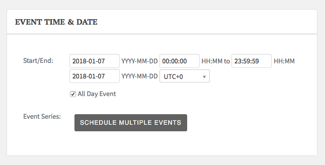 Date Picker Non-Existant? | The Events Calendar