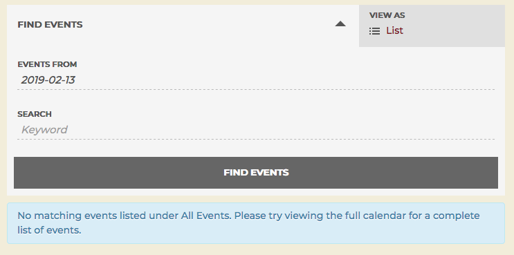 How can I change the text of the blue Event Notices when there are