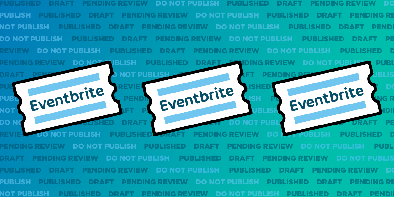 New post status options for importing events from Eventbrite to WordPress