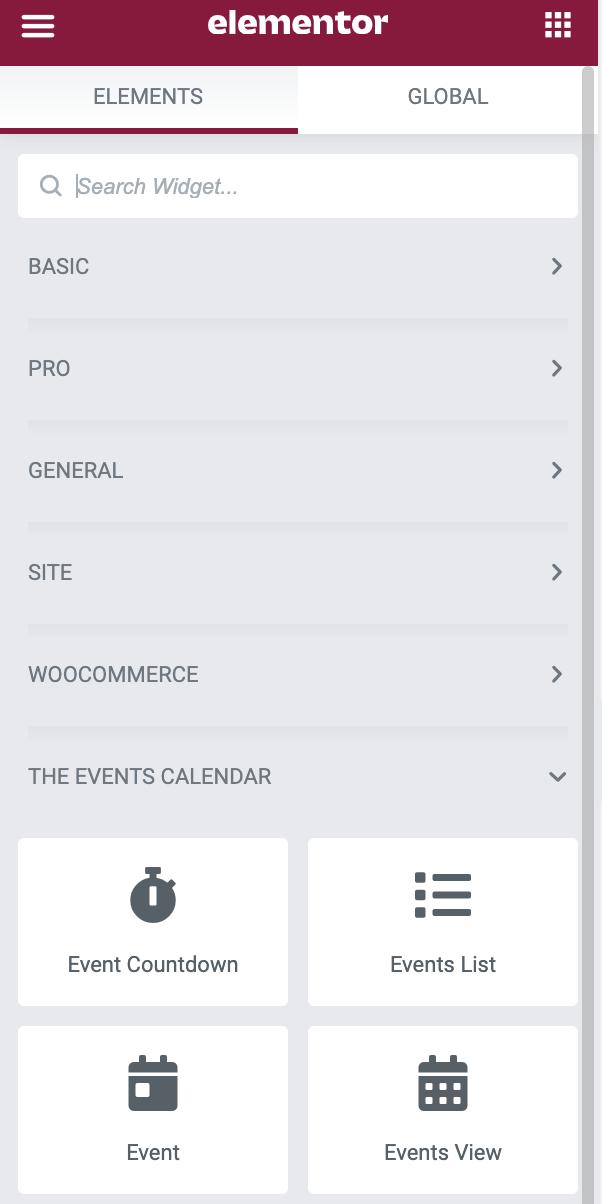 Elementor - Events Calendar Pro Widgets Screenshot 1